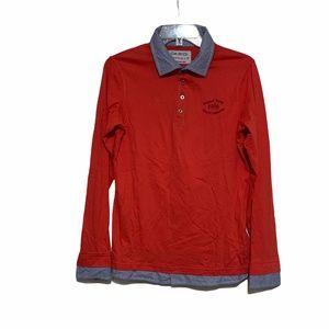 Okaidi Clothing France Long Sleeve Polo Sz 14